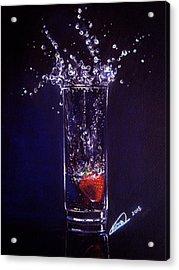 Water Splash Reflection Acrylic Print
