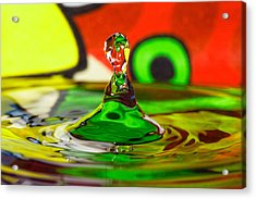 Acrylic Print featuring the photograph Water Stick by Peter Lakomy