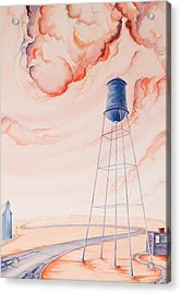 Water Tank II Acrylic Print by Scott Kirby