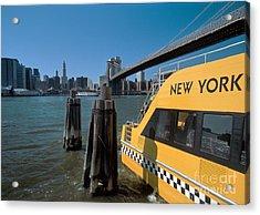 Water Taxi Acrylic Print by Bruce Bain
