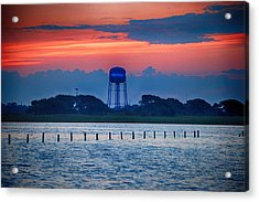 Water Tower Acrylic Print by Michael Thomas