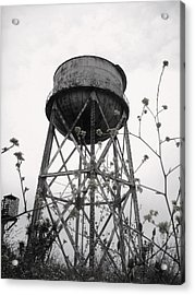 Water Tower Acrylic Print by Michael Grubb