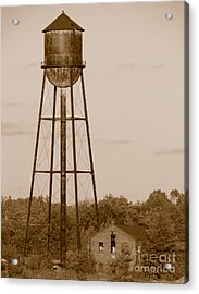 Water Tower Acrylic Print by Olivier Le Queinec