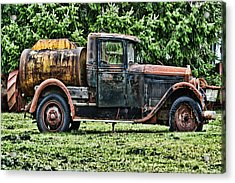 Water Truck Acrylic Print by Ron Roberts