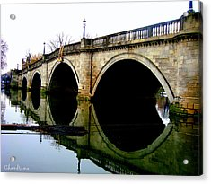 Water Under The Bridge Acrylic Print by Chandrima Dhar