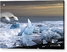 Acrylic Print featuring the photograph Water Versus Ice by Gunnar Orn Arnason