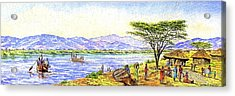 Water Village Acrylic Print