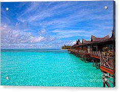Water Village On Tropical Island Acrylic Print