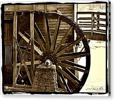 Acrylic Print featuring the photograph Water Wheel At The Grist Mill by Tara Potts