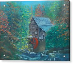 Water Wheel House  Acrylic Print by Dawn Nickel