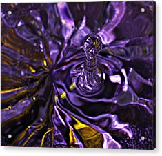Water Works 01 - The Color Purple Acrylic Print