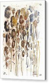 Watercolor Animal Skin I Acrylic Print by Patricia Pinto