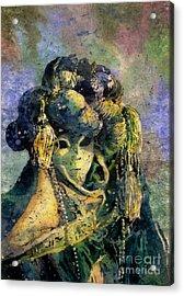 Watercolor Batik Venice Italy Acrylic Print by Ryan Fox