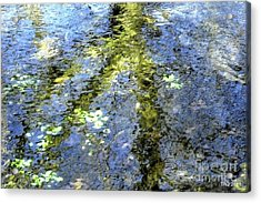 Watercolor Blues Acrylic Print by Tami Quigley