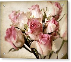 Watercolor Bouquet Acrylic Print by Jessica Jenney