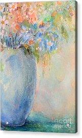 Watercolor Bouquet Acrylic Print by Pattie Calfy