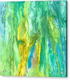 Watercolor Cascade Acrylic Print by Rosie Brown