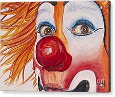 Watercolor Clown #10 Payaso Kiruz Bazo Acrylic Print