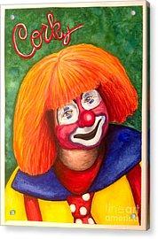 Watercolor Clown #18 Corky Dozier Acrylic Print