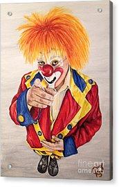 Watercolor Clown #19 Misael Hernandez Acrylic Print