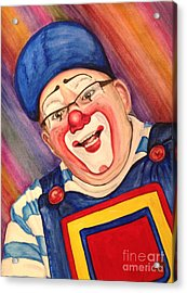 Watercolor Clown #20 Lee Andrews Acrylic Print