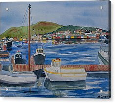 Watercolor - Dingle Ireland Acrylic Print