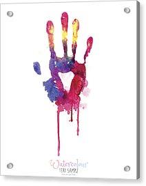 Watercolor Hand Illustration Acrylic Print by Vectorig