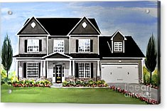 Watercolor Home Portrait 2 Acrylic Print