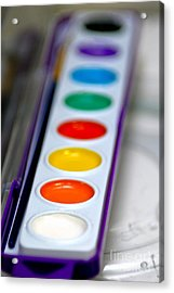 Watercolor Paint Set Acrylic Print by Amy Cicconi