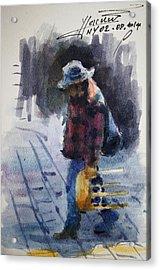Watercolor Sketch Acrylic Print by Ylli Haruni
