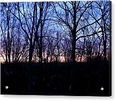 Watercolor Sunset Acrylic Print by Suzanne Perry