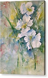 Watercolor Wild Flowers Acrylic Print