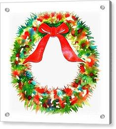 Watercolor Wreath Acrylic Print