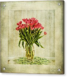Watercolour Tulips Acrylic Print