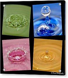 Waterdrops Acrylic Print