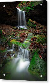 Frankfort Mineral Springs Waterfall  Acrylic Print