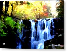 Waterfall 1 Acrylic Print by Lanjee Chee