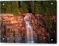 Waterfall Acrylic Print by Allan Johnson
