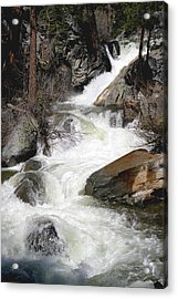 Waterfall Along The Rubicon Trail - Lake Tahoe Acrylic Print by Patricia Sanders