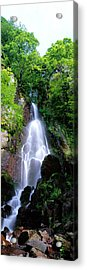 Waterfall Alsace France Acrylic Print by Panoramic Images