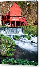 Waterfall And Hodgson Mill - Missouri Acrylic Print by Gregory Ballos