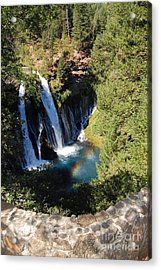 Acrylic Print featuring the photograph Waterfall And Rainbow 2 by Debra Thompson