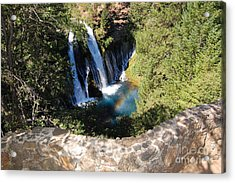 Acrylic Print featuring the photograph Waterfall And Rainbow 3 by Debra Thompson
