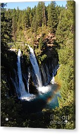 Acrylic Print featuring the photograph Waterfall And Rainbow by Debra Thompson
