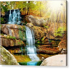 Acrylic Print featuring the photograph Waterfall Art by Boon Mee