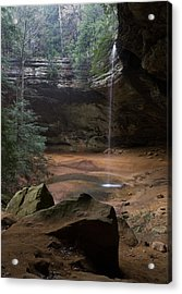 Waterfall At Ash Cave Acrylic Print