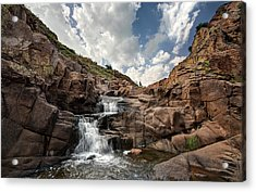 Waterfall At Forty Foot Hole In The Wichita Mountains Acrylic Print