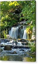 Waterfall At Lake Katherine Acrylic Print by Larry Bohlin