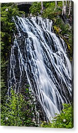 Waterfall At Mt. Rainier Acrylic Print by Chris McKenna