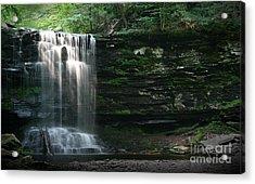 Waterfall At Ricketts Glen Acrylic Print